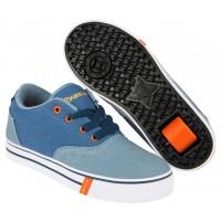 Heelys Launch Denim/Light Blue/Orange