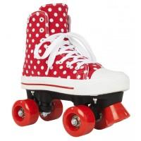 Rookie RollerskatesCanvas High Polka DotsRed/White