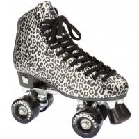 Rookie Rollerskates Classic Silver Leopard