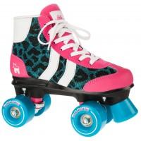 Rookie Rollerskates Retro Blue Glitter/Pink