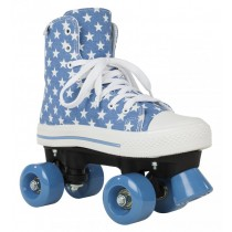 Rookie Rollerskates	Canvas High Stars	Blue/White