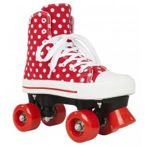 Rookie Rollerskates	Canvas High Polka Dots	Red/White